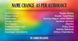 name change as per astrology